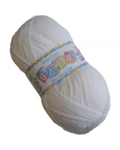 King Cole DK 100g Baby Wool White
