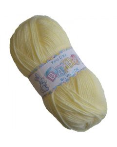 King Cole DK 100g Baby Wool Yellow