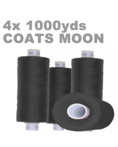 Pack of 4 1000m charcoal overlock thread