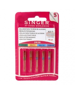 Assorted pack of sewing machine needles