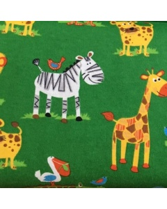 Jungle Animal Friends 100% Brushed Cotton Fabric