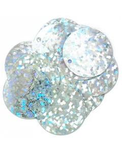 Hologram Sparkles 20mm: Silver