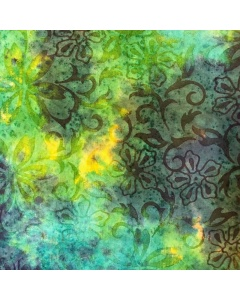 Green/Blue Batik Print Fabric