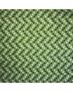 Green Zig Zag Floral Fabric