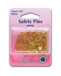 Brass Gold coloured safety pins