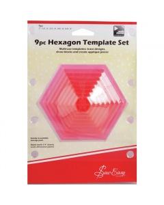 9pc Hexagon Template Set