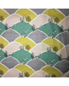 Green House on a Hill Fabric