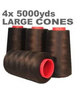 Pack of 4  black overlock thread cone