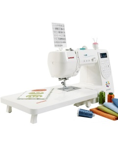 Janome M100 QDC with extension table attached