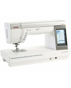 Janome MC 9400 front view showing the longer sewing bed