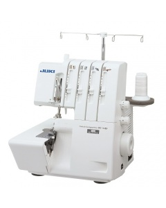 Juki MO-114D overlock - Threading is a breeze due to color-coded thread guides and a quick-threading lower looper.