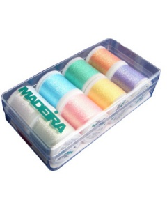 Madeira Supertwist Opal Metallic Thread Box 8 x 200m spools