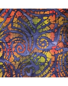 Dark Multi Coloured Batik Print Fabric