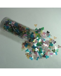 Small multi colour pearl sequin flowers