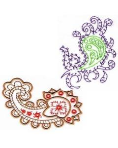 10 set Paisley Embroidery Design