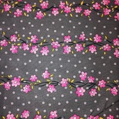Pink Flowers on Vines Fabric