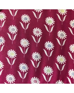 Pink Multicoloured Flower Fabric
