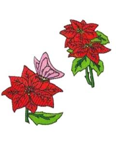 16 set of Poinsettias Embroidery Design