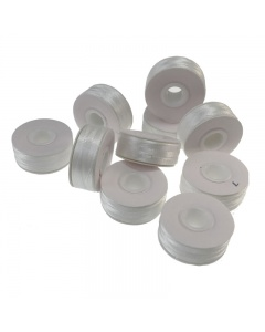 Multi buy prewound machine embroidery bobbins in white