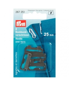 Prym Skirt Waistband Fastners Steel 25mm Black
