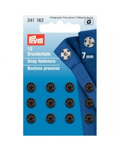 Prym SewOn Snap Fasteners Black 7mm