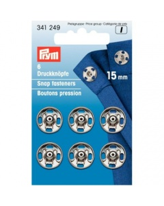 Prym Sew-on Snap Fasteners Silver 15 Mm