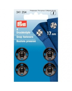 Prym SewOn Snap Fasteners Black 17mm