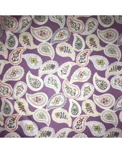 Purple Paisley Pattern Fabric