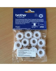 Prewound bobbins ready to use with thread