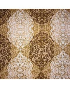 Shades of Gold Non Shiny Filigree Fabric
