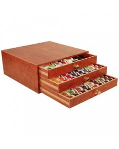 Madeira Wooden Thread Treasure Chest with 194 Threads