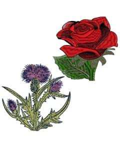 10 set Unique Flowers Embroidery Design