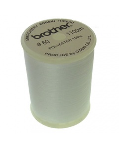 Large Brother Embroidery Bobbin Thread - White 1100m