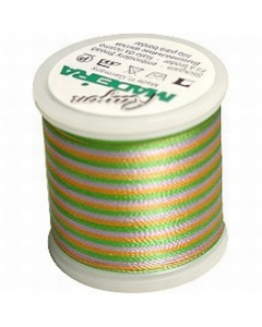 Madeira Multi Rayon Thread 200m - 2143 Medium Green/ Purple/ Gold