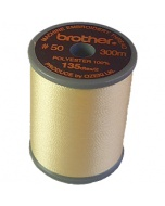 Brother satin finish embroidery thread. 300m spool CREAM BROWN 010