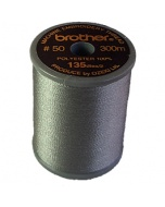 Brother satin finish embroidery thread. 300m spool GREY 817