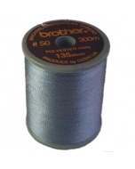 Brother satin finish embroidery thread. 300m spool PEWTER 704