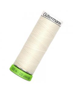 Gutermann rPET Sew All Thread 100m Ivory (001)