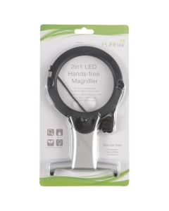 2in1 LED Hands-free Magnifier