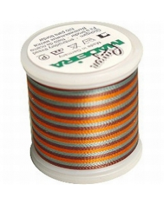 Madeira Multi Rayon Thread 200m - 2144 Coral/ Brown/Teal