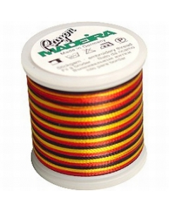 Madeira Multi Rayon Thread 200m - 2145 Gold/ Black/Red