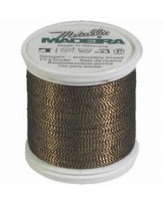 Madeira Twisted Metallic 200m Thread - 424 Black/Antique Gold