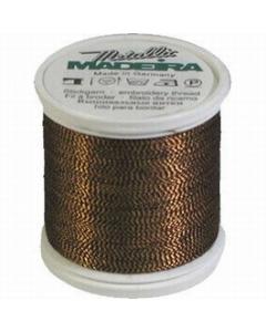 Madeira Twisted Metallic 200m Thread - 425 Black/Gold