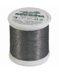 Madeira Twisted Metallic 200m Thread - 442 Silver/Black