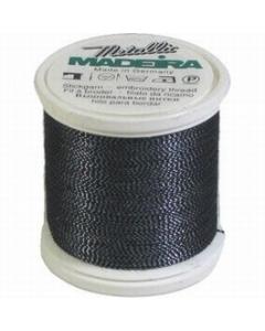 Madeira Twisted Metallic 200m Thread - 460 Black/Blue