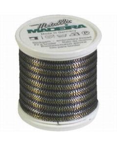 Madeira Twisted Metallic 200m Thread - 484 Black/Gold/Silver