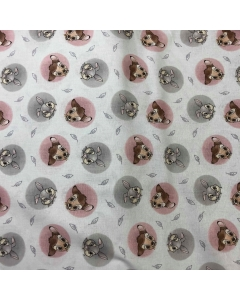 Disney's Bambi and Thumper Badges Fabric