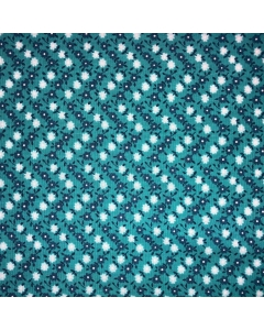 White and Blue Floral Fabric