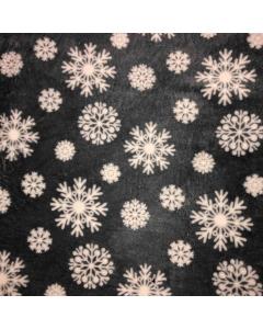 Grey Snowflake Reversable Fleece