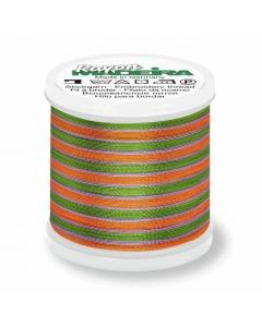 Madeira Multi Rayon Thread 200m - 2143 Medium Green/ Purple/ Gold